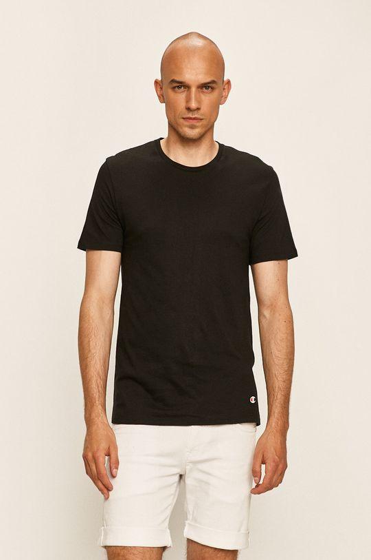 czarny Champion - T-shirt (2-pack) Męski