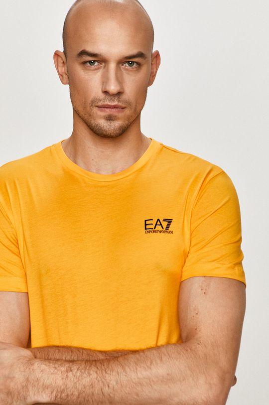 hořčicová EA7 Emporio Armani - Tričko