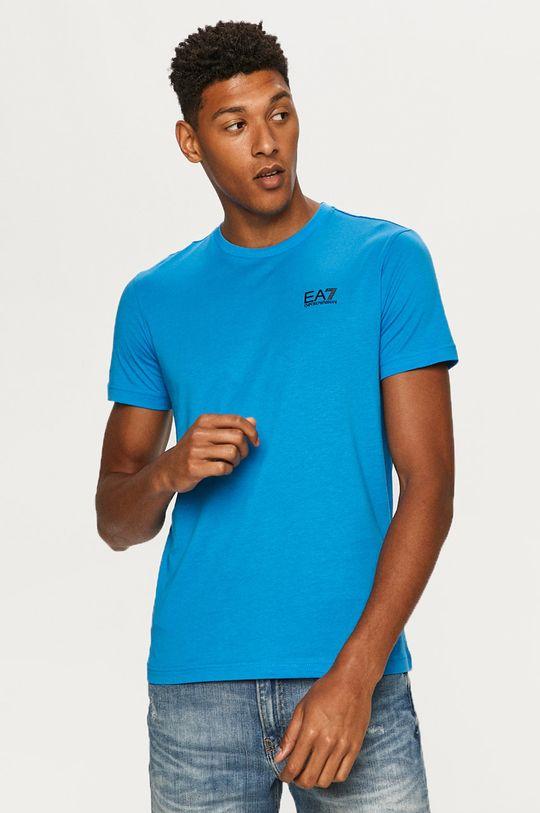 jasny niebieski EA7 Emporio Armani - T-shirt Męski