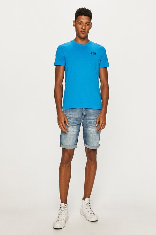 EA7 Emporio Armani - T-shirt jasny niebieski