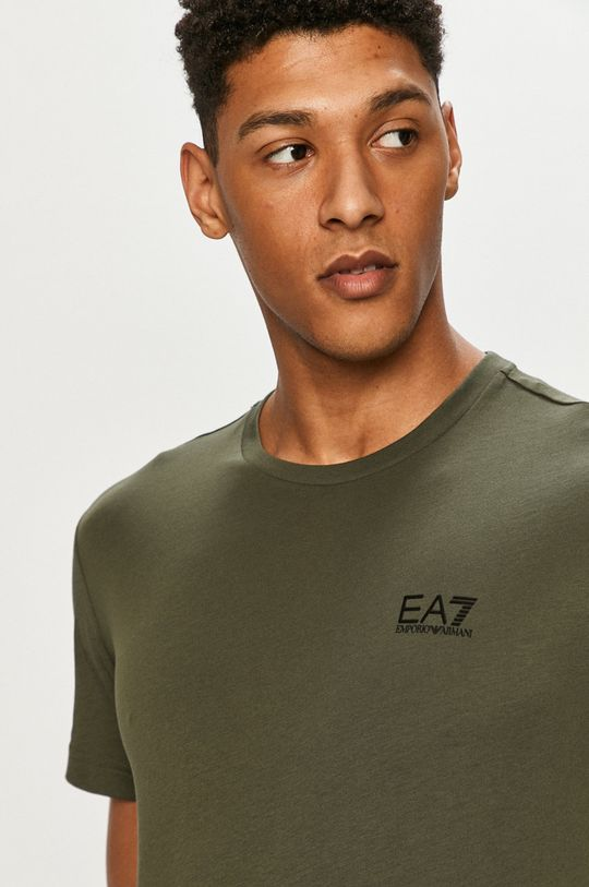hnedo zelená EA7 Emporio Armani - Tričko