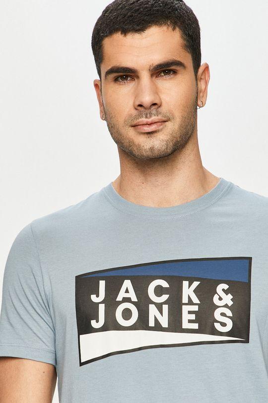 fioletowy Jack & Jones - T-shirt Męski