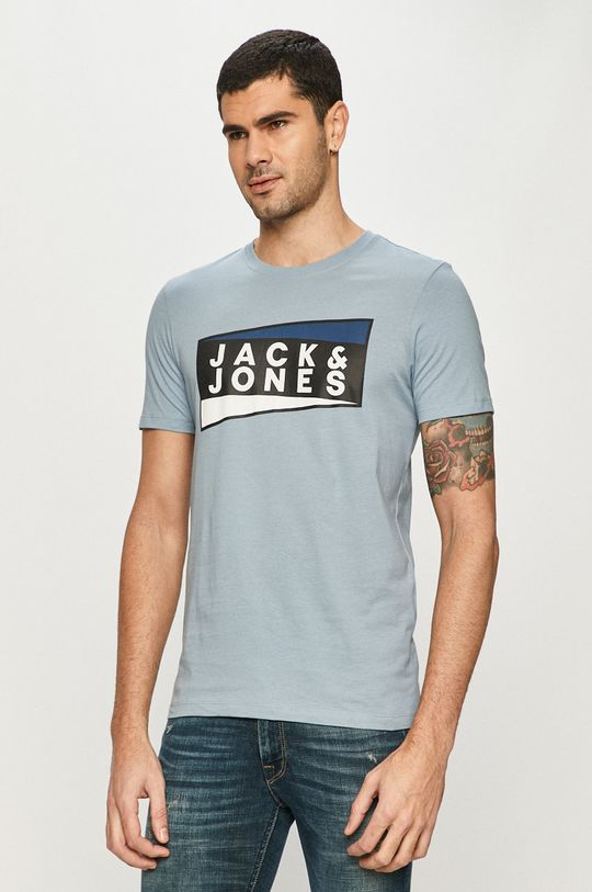 fioletowy Jack & Jones - T-shirt