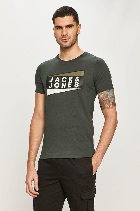 oceľová zelená Jack & Jones - Tričko Pánsky