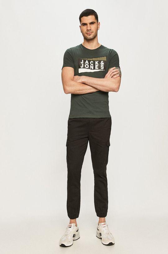 Jack & Jones - Tričko oceľová zelená