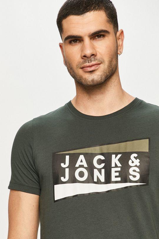 oceľová zelená Jack & Jones - Tričko