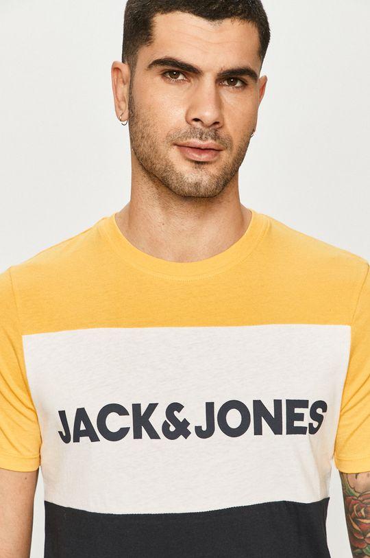 żółty Jack & Jones - T-shirt