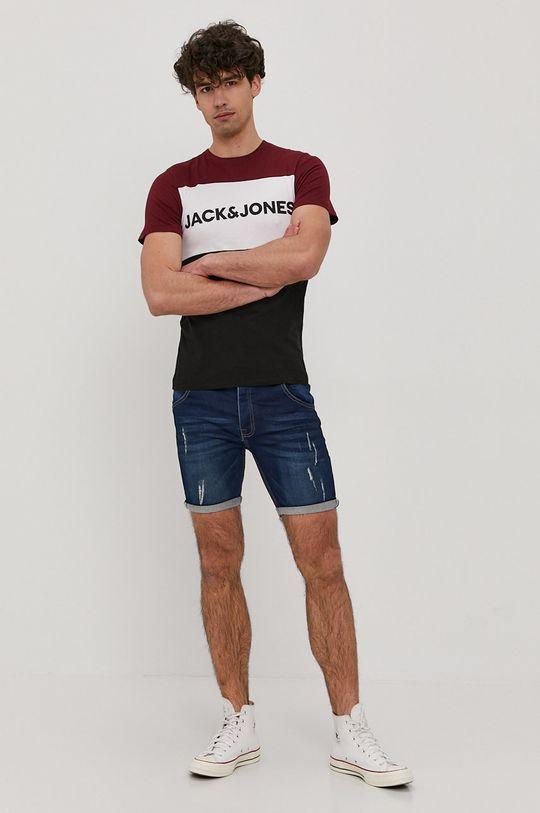 Jack & Jones - T-shirt kasztanowy