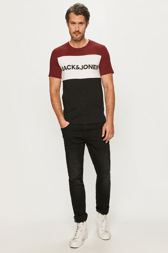 Jack & Jones - T-shirt mahoniowy