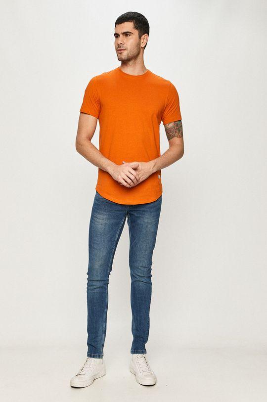 Jack & Jones - T-shirt miedziany