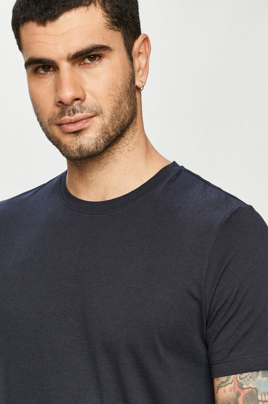 granatowy Jack & Jones - T-shirt Męski