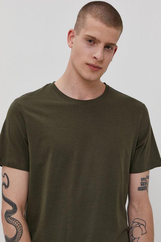 militarny Jack & Jones - T-shirt Męski
