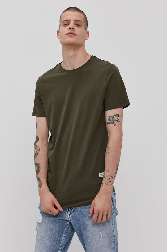 militarny Jack & Jones - T-shirt