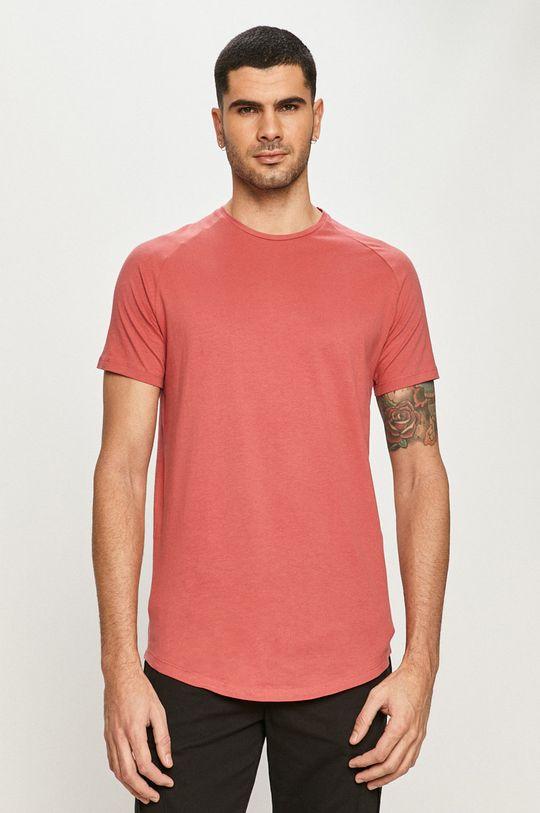 ružovo-červená Jack & Jones - Tričko Pánsky