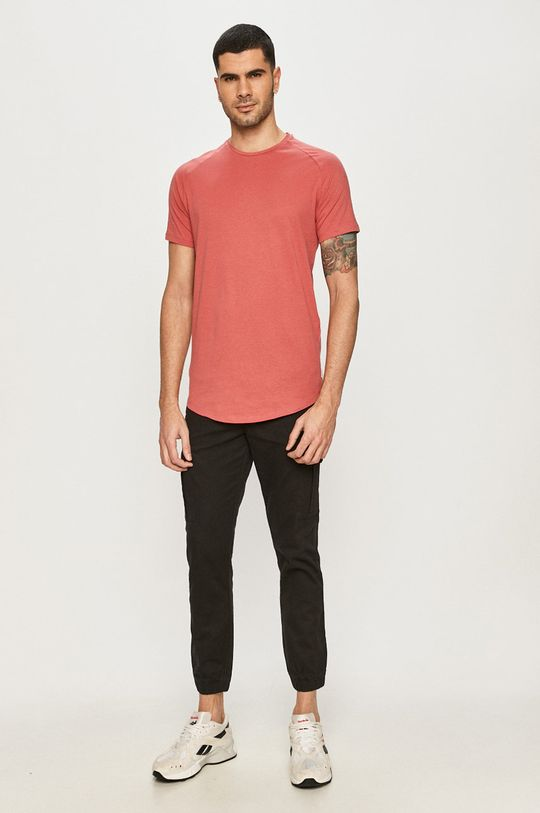 Jack & Jones - Tričko ružovo-červená