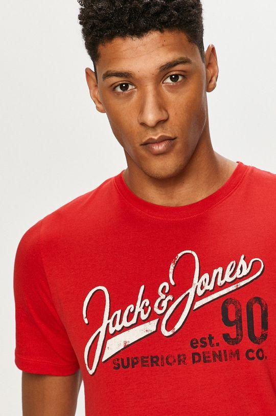 czerwony Jack & Jones - T-shirt