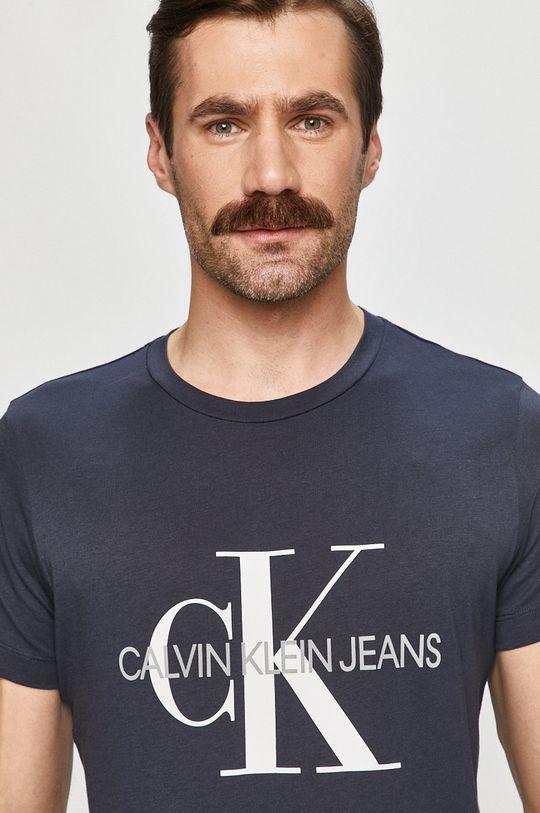 tmavomodrá Calvin Klein Jeans - Tričko Pánsky
