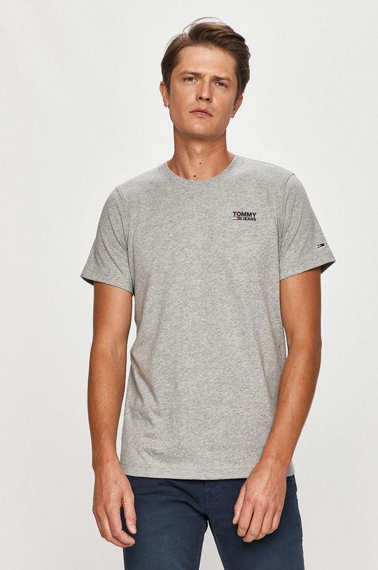sivá Tommy Jeans - Tričko Pánsky