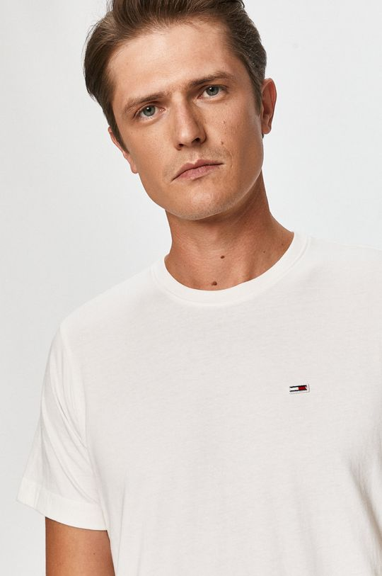 biela Tommy Jeans - Tričko Pánsky