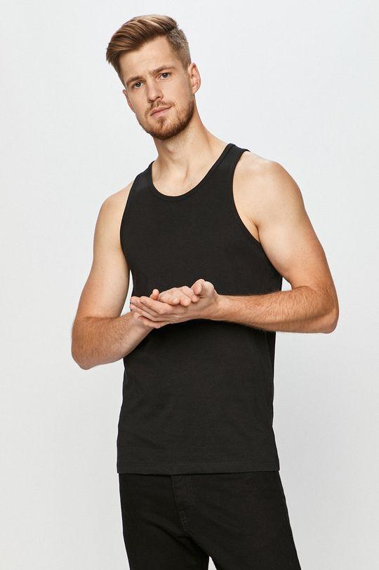 czarny Jack & Jones - T-shirt (2-pack) Męski