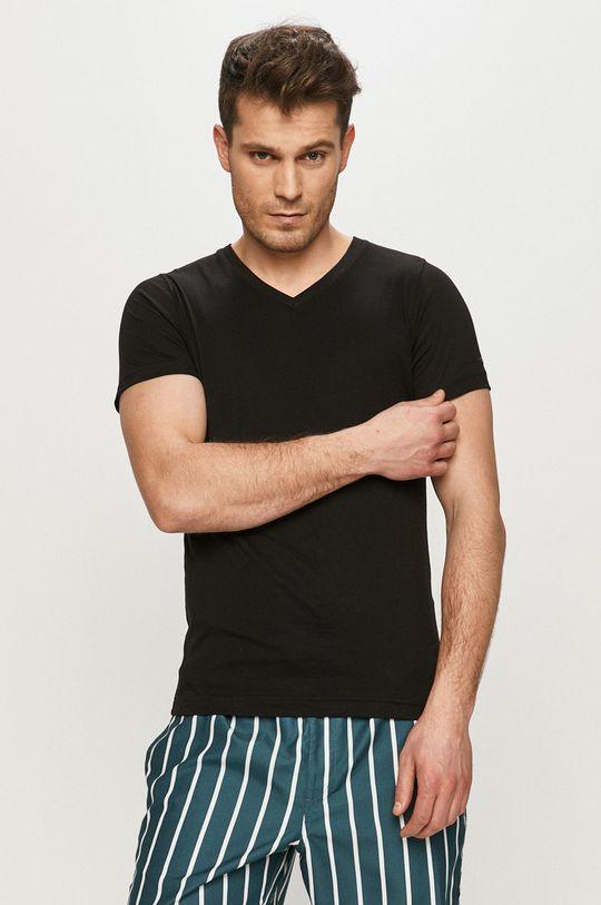 černá Karl Lagerfeld - Tričko (2-pack) Pánský