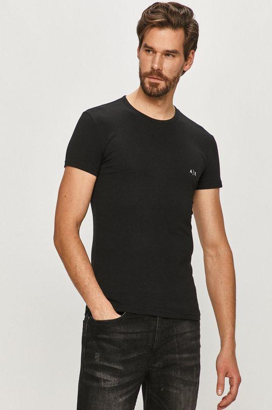 czarny Armani Exchange - T-shirt (2-pack) Męski