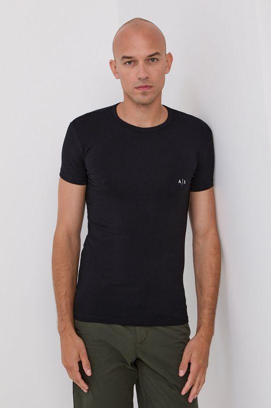 Armani Exchange - T-shirt (2-pack) czarny