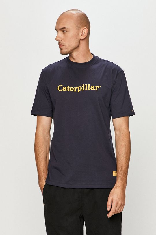 tmavomodrá Caterpillar - Tričko Pánsky