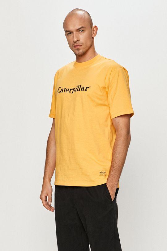 žlutá Caterpillar - Tričko Pánský