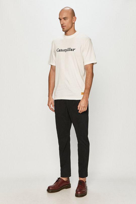 Caterpillar - Tričko bílá