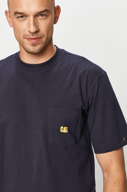 niebieski Caterpillar - T-shirt Męski