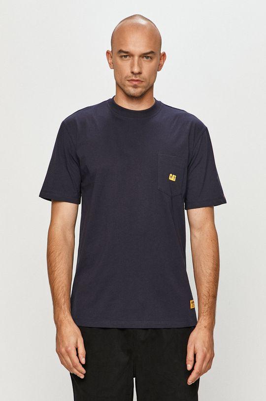 niebieski Caterpillar - T-shirt
