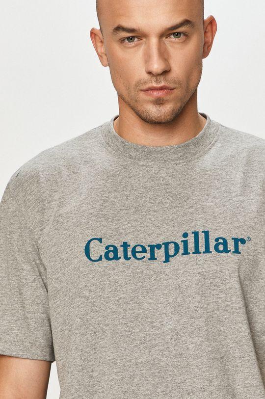 szary Caterpillar - T-shirt