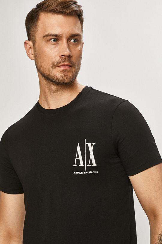 čierna Armani Exchange - Tričko Pánsky