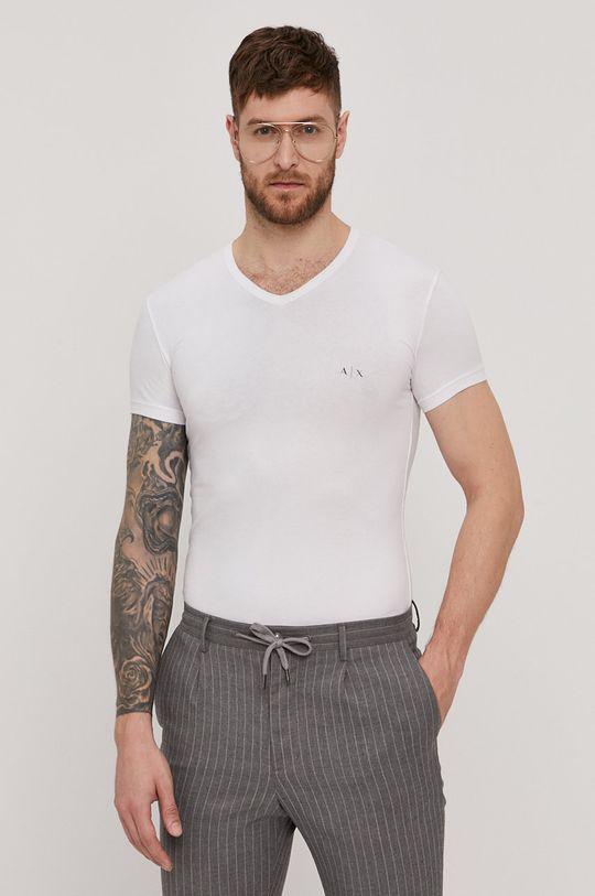 biały Armani Exchange - T-shirt (2-pack) Męski