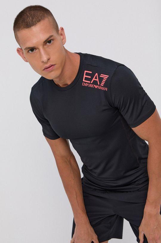 negru EA7 Emporio Armani - Tricou De bărbați