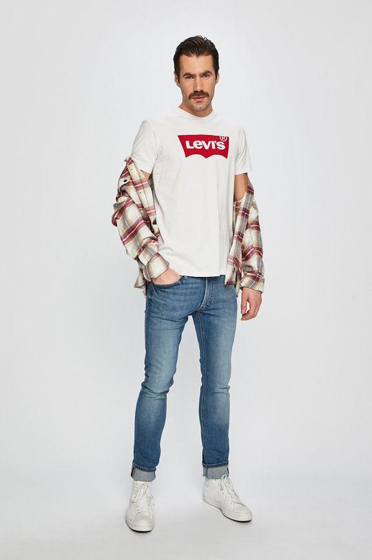 Levi's - Tričko Graphic bílá