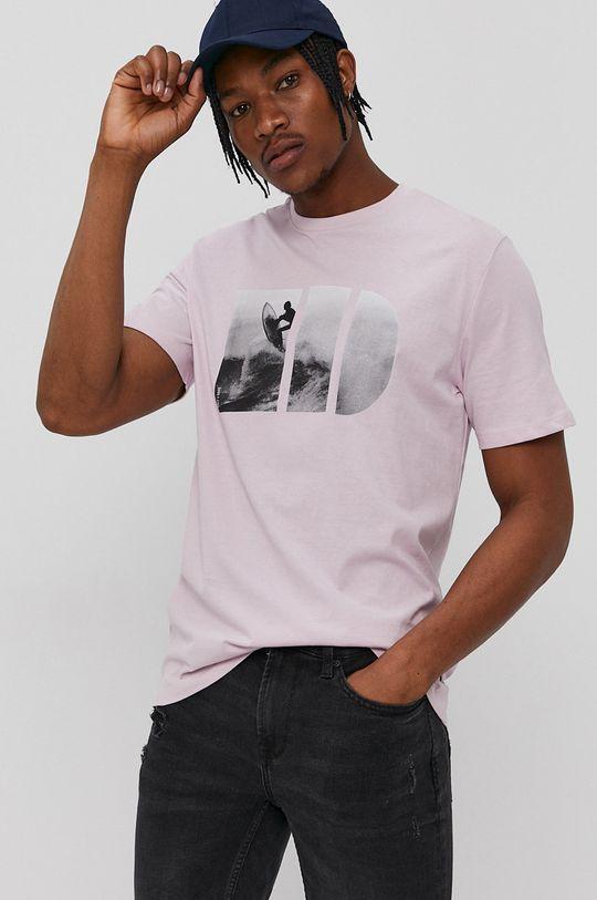pastelowy różowy Only & Sons - T-shirt Męski