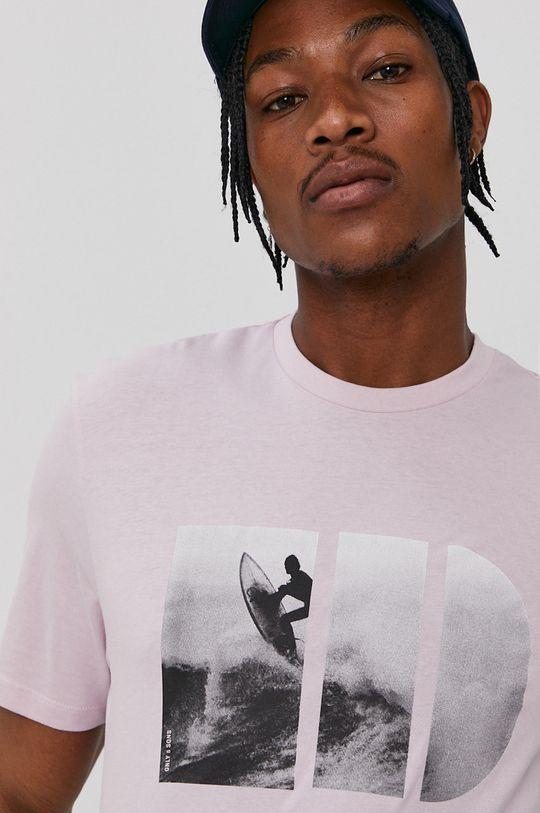 Only & Sons - T-shirt pastelowy różowy