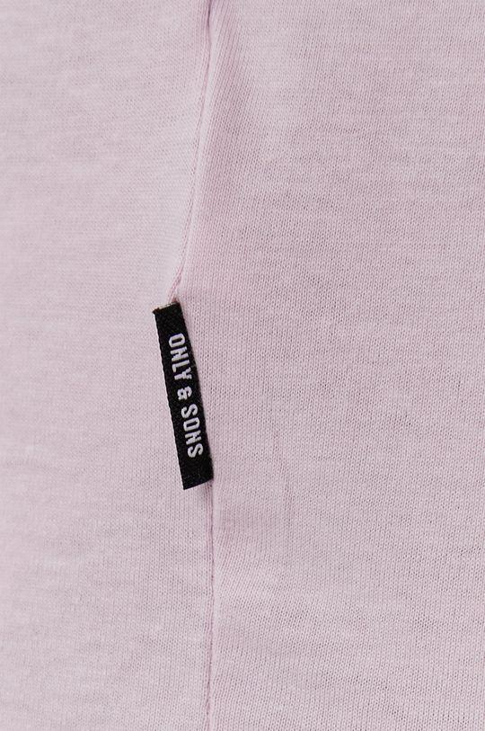 pastelowy różowy Only & Sons - T-shirt