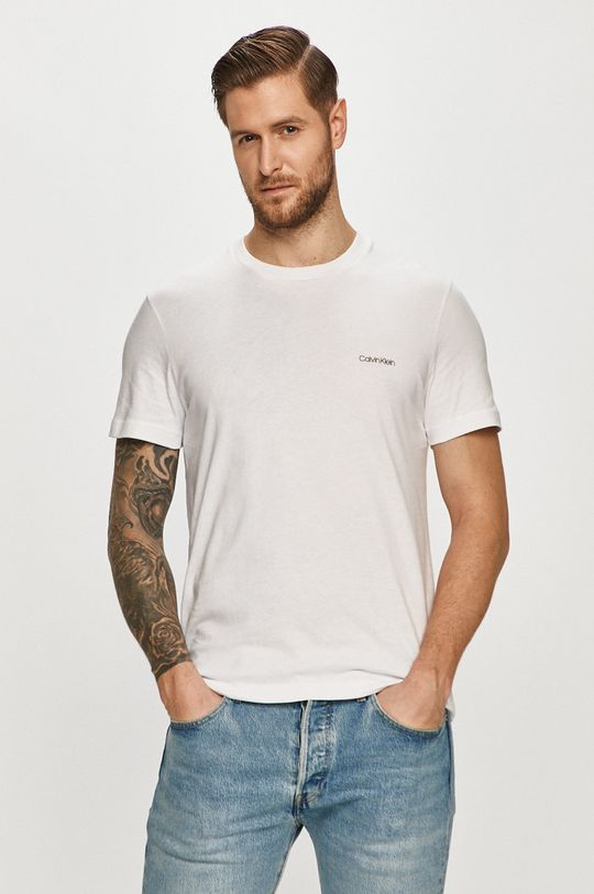 biela Calvin Klein - Tričko Pánsky