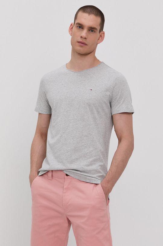 šedá Tommy Jeans - Tričko Pánský