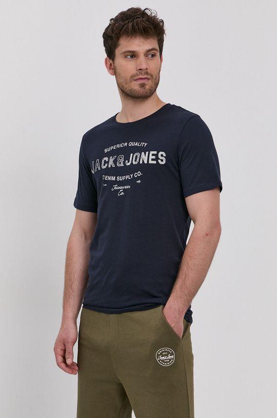 granatowy Jack & Jones - T-shirt