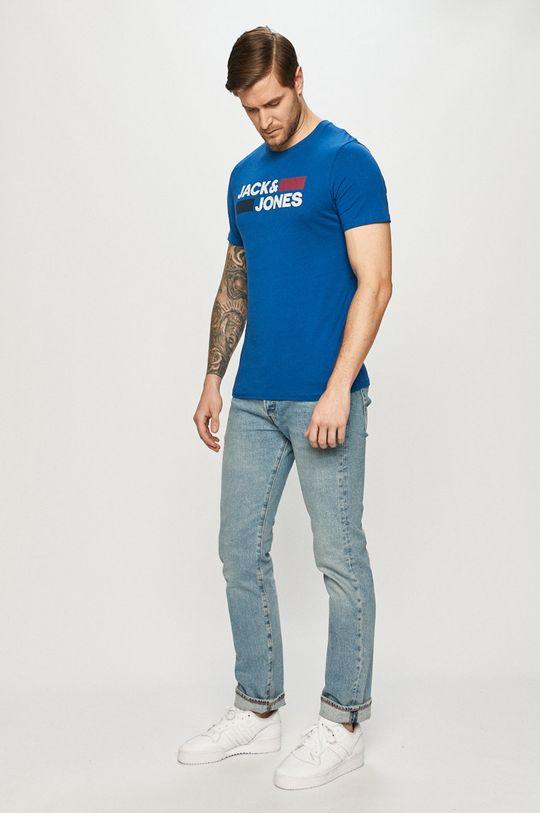 Jack & Jones - T-shirt niebieski