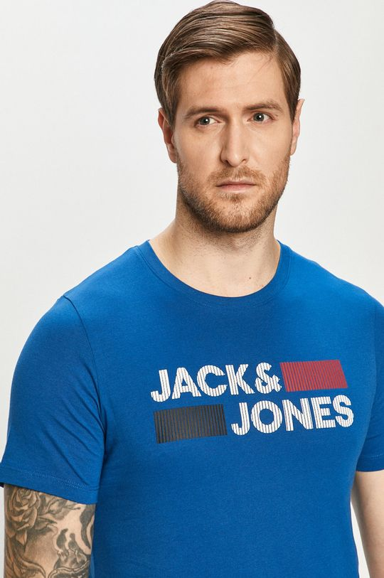 niebieski Jack & Jones - T-shirt