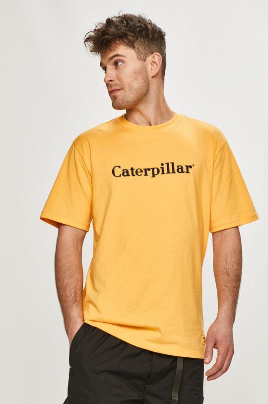 oranžová Caterpillar - Tričko Pánský