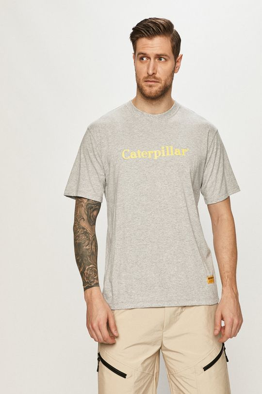 szary Caterpillar - T-shirt Męski