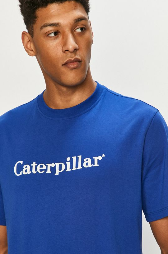 modrá Caterpillar - Tričko Pánsky