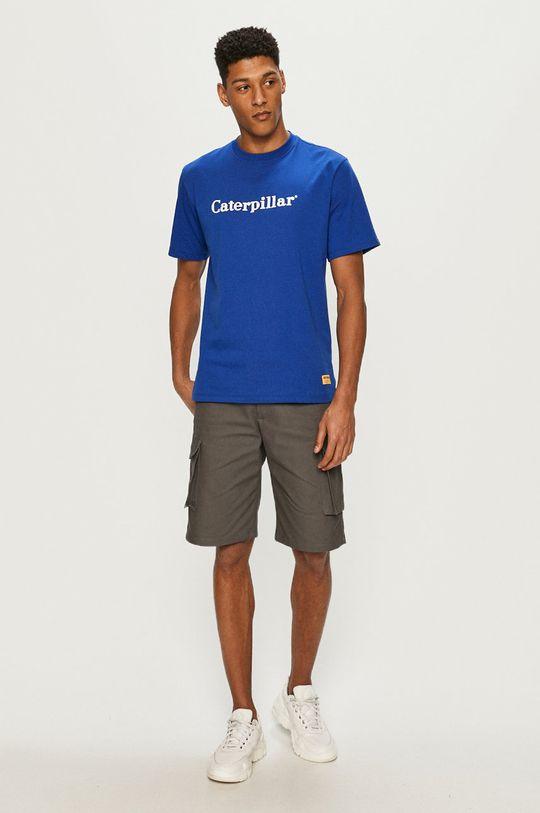 Caterpillar - Tričko modrá