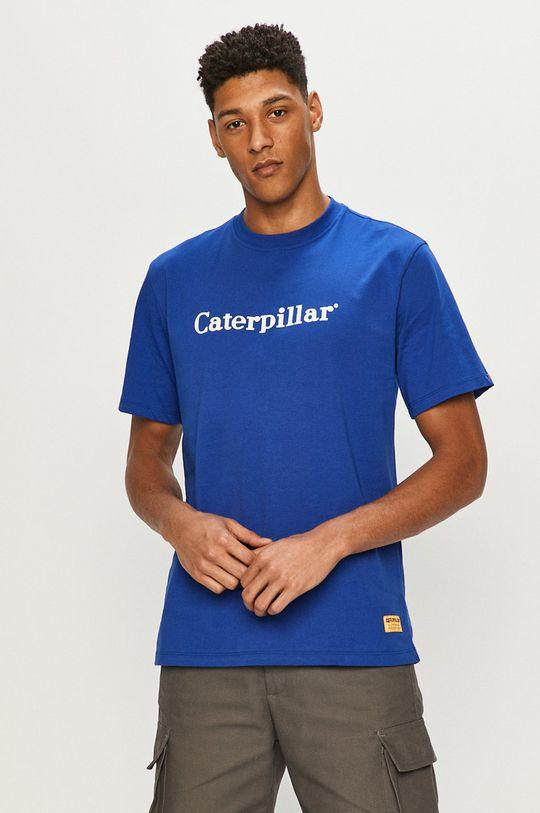 modrá Caterpillar - Tričko